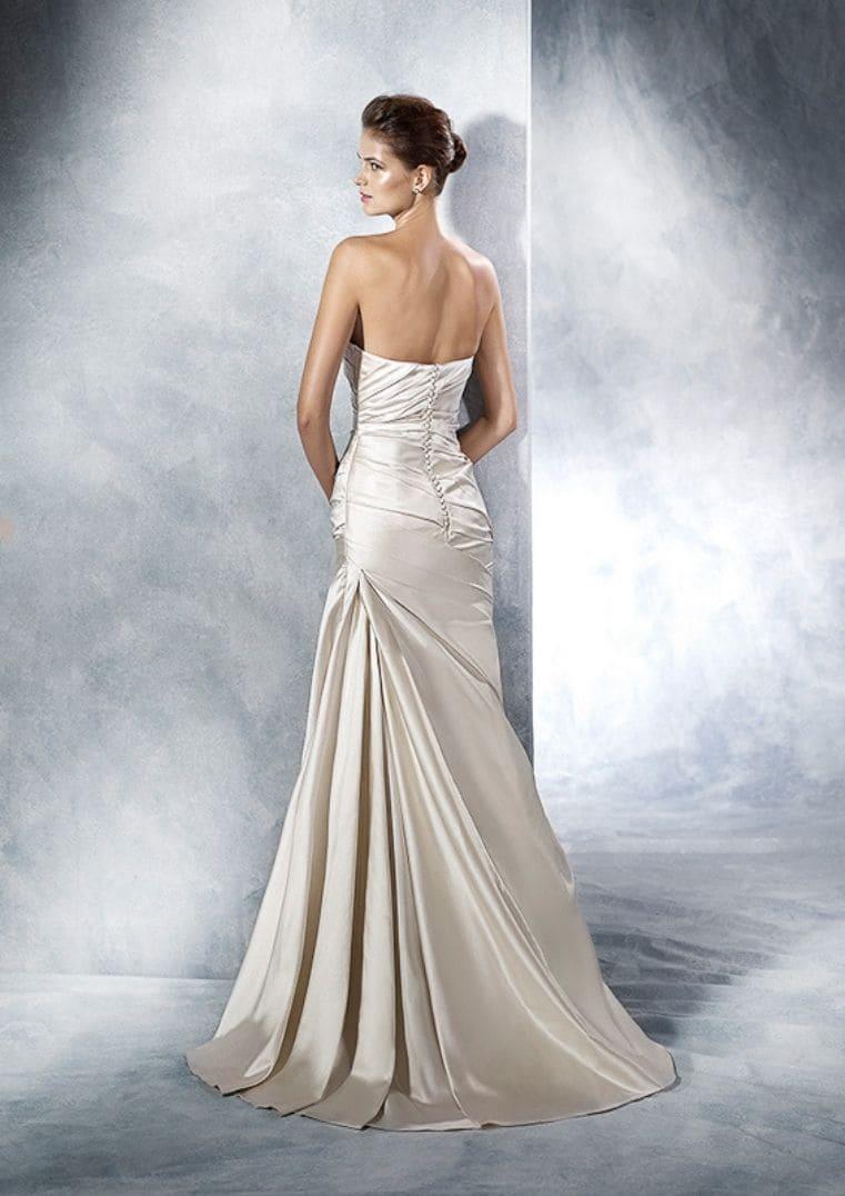 Robe de mariée sirène Tigris en satin - Espace Mariée Nantes