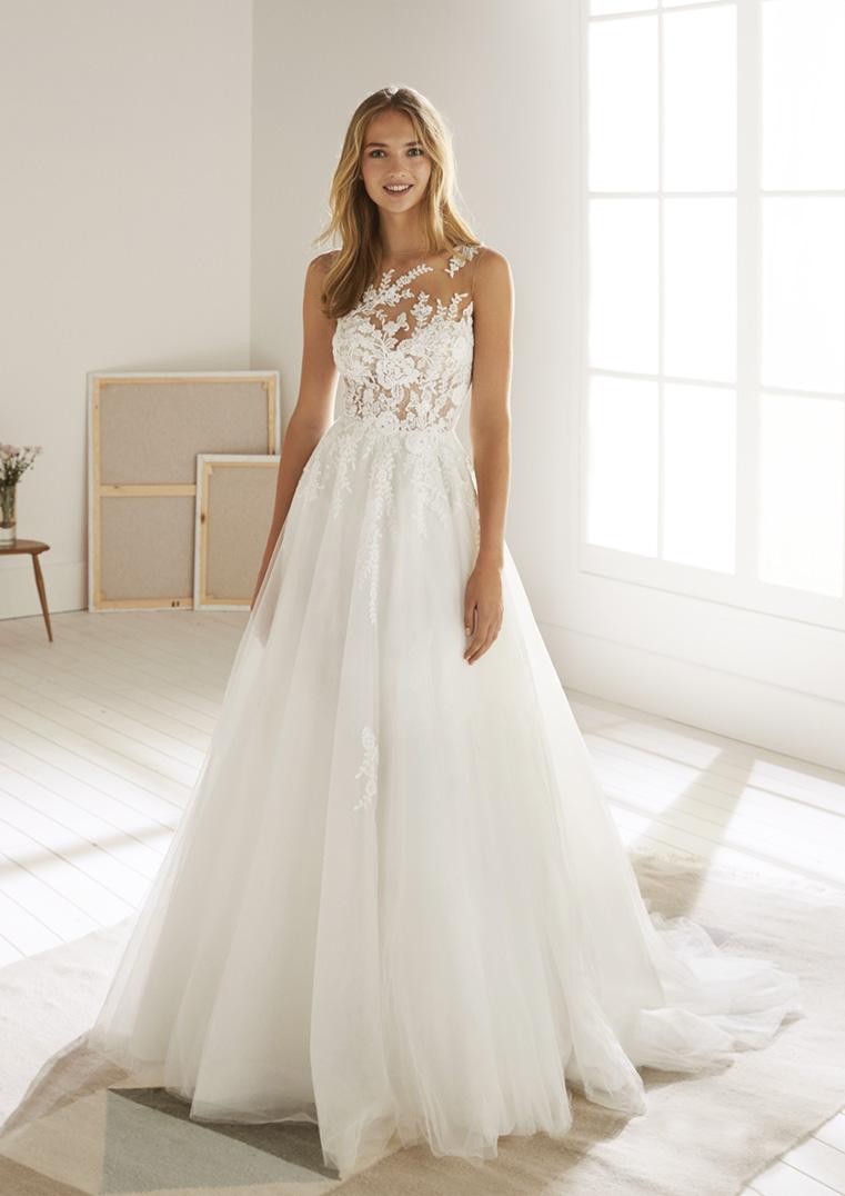 Robe de Mariée Oropesa coupe princesse - White One