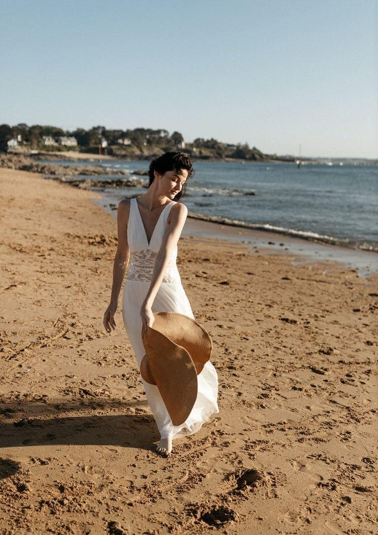 Robe de mariée Artemis silhouette longiligne - Lambert Créations