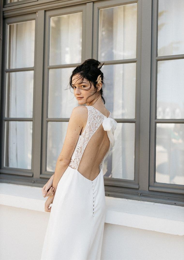 Robe de Mariée Athena dos nu Lambert Créations
