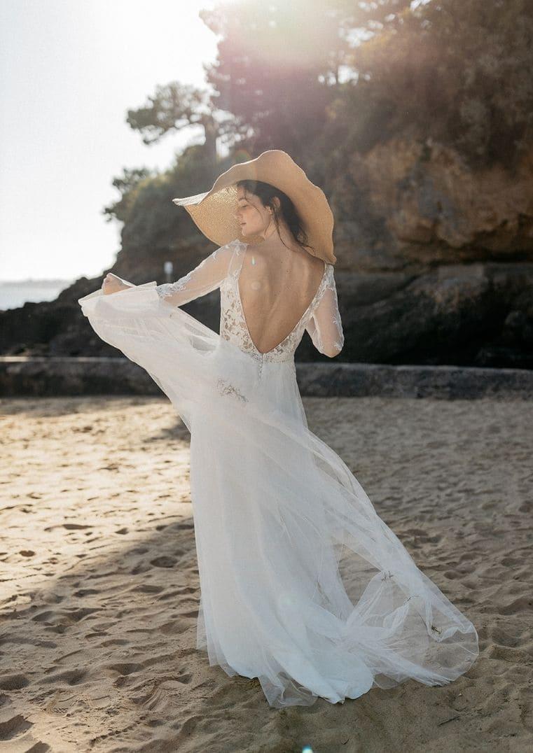 Robe de Mariée Atlantis Lambert Créations jupe en tulle