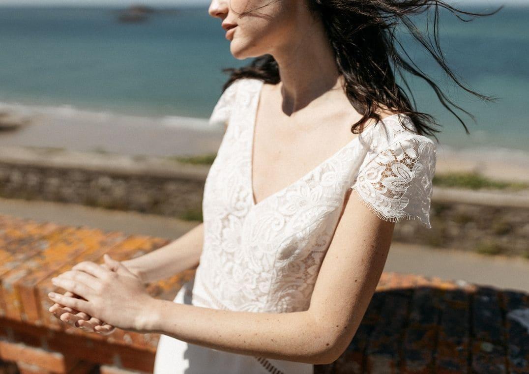 Robe de mariée Belem décolleté en V