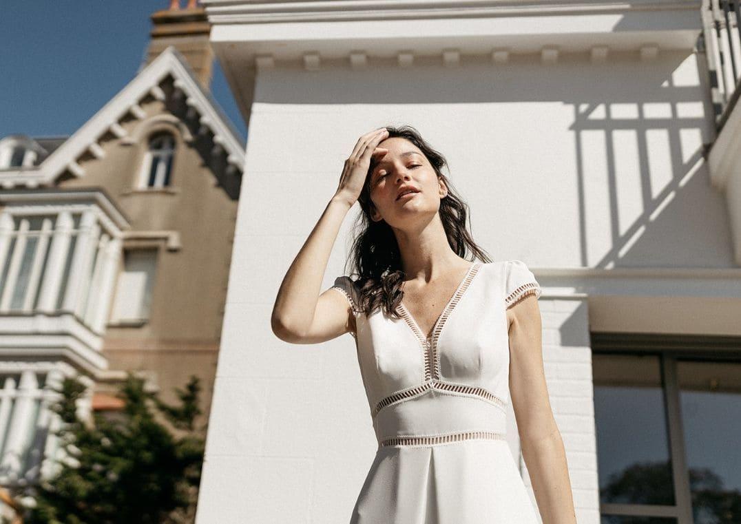Robe de mariée Bering avec manches - Espace Mariée Nantes