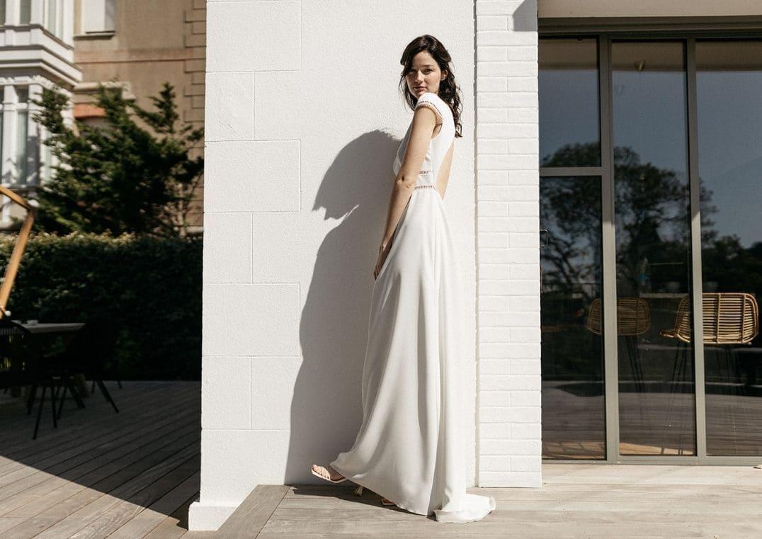 Robe de mariée Bering longue - Lambert Créations