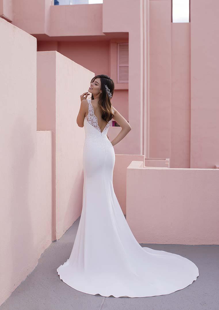 Robe de Mariée Coneflower dentelle fine bustier - White One