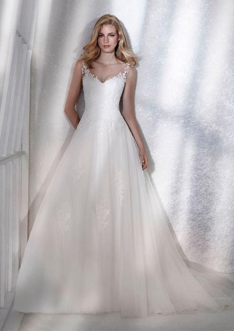 Robe de Mariée princesse Femme à bretelles - White One
