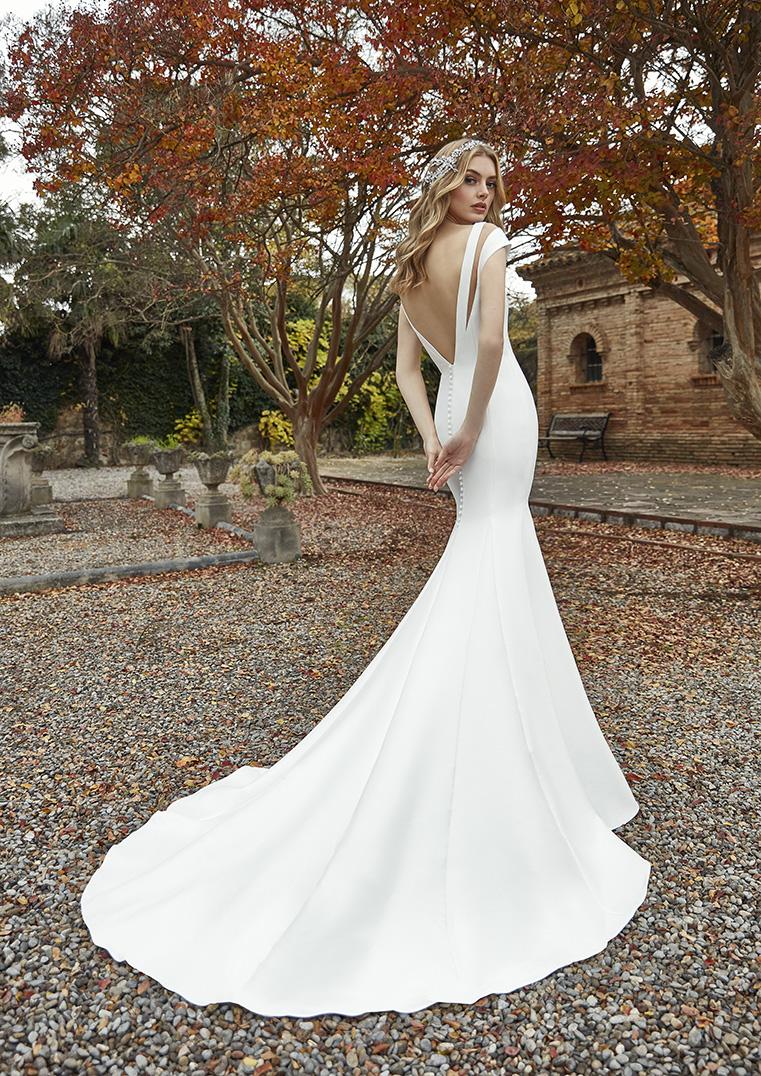 Robe de mariée Holly San Patrick dos plongeant