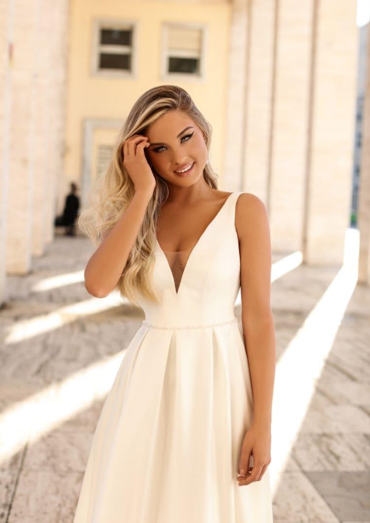 Robe de mariée encolure en V, Magnolia - Iryna Kotapska
