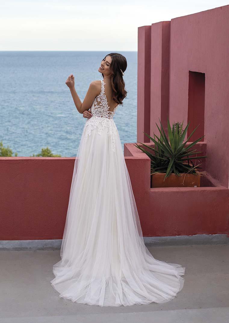 Robe de Mariée Merrybells dos semi transparent - White One