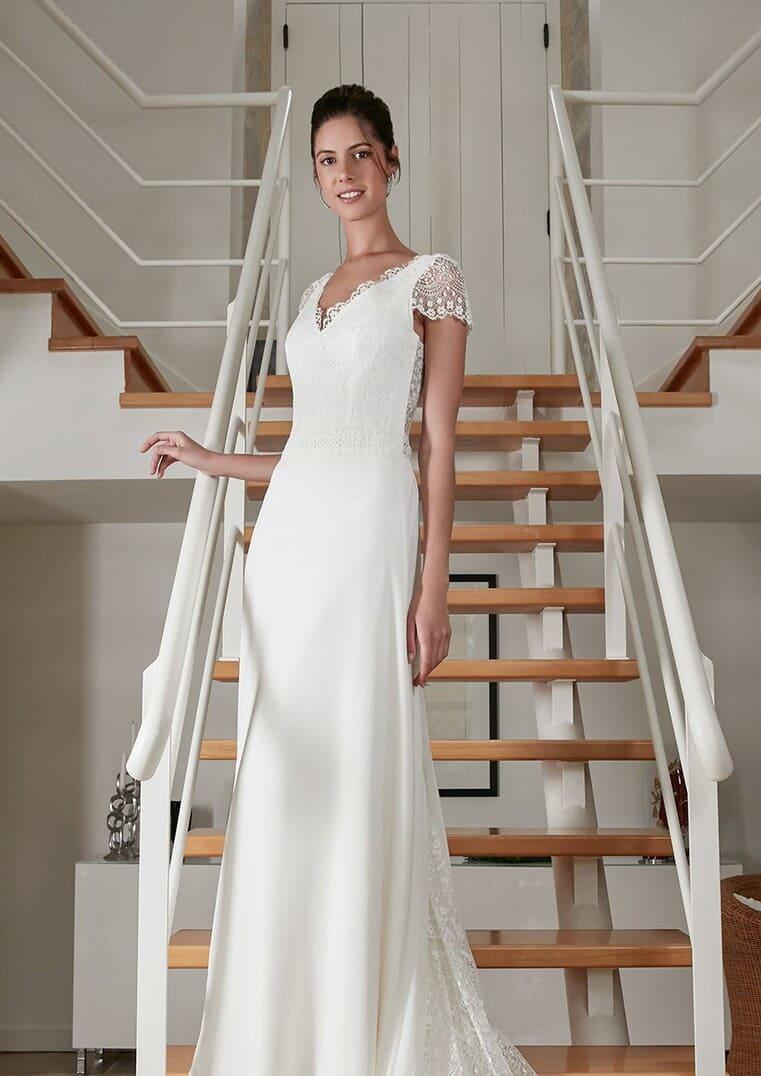 Robe de mariée coupe A - Rebelle - Bochet Créations