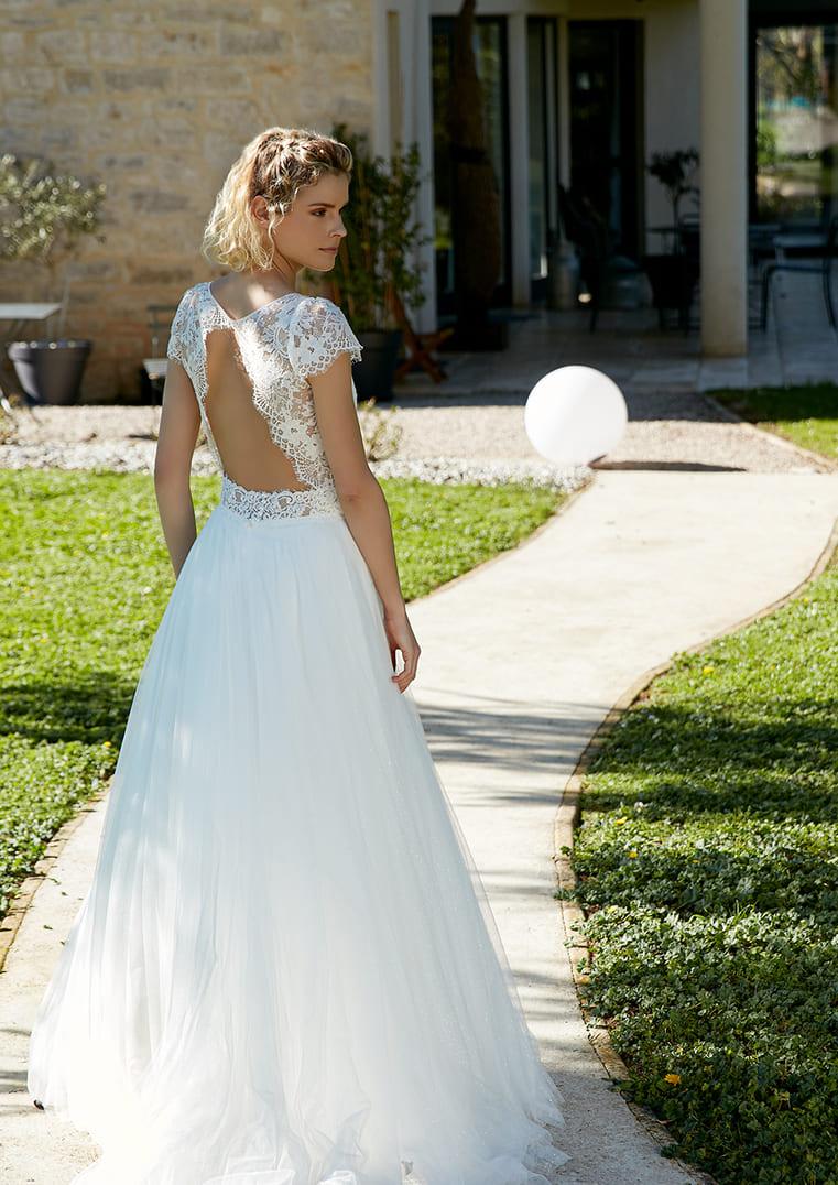 Robe de mariée Rosilda coupe A - Bochet Créations
