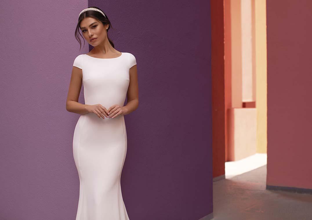 Robe de Mariée Shasta coupe ajustée - White One