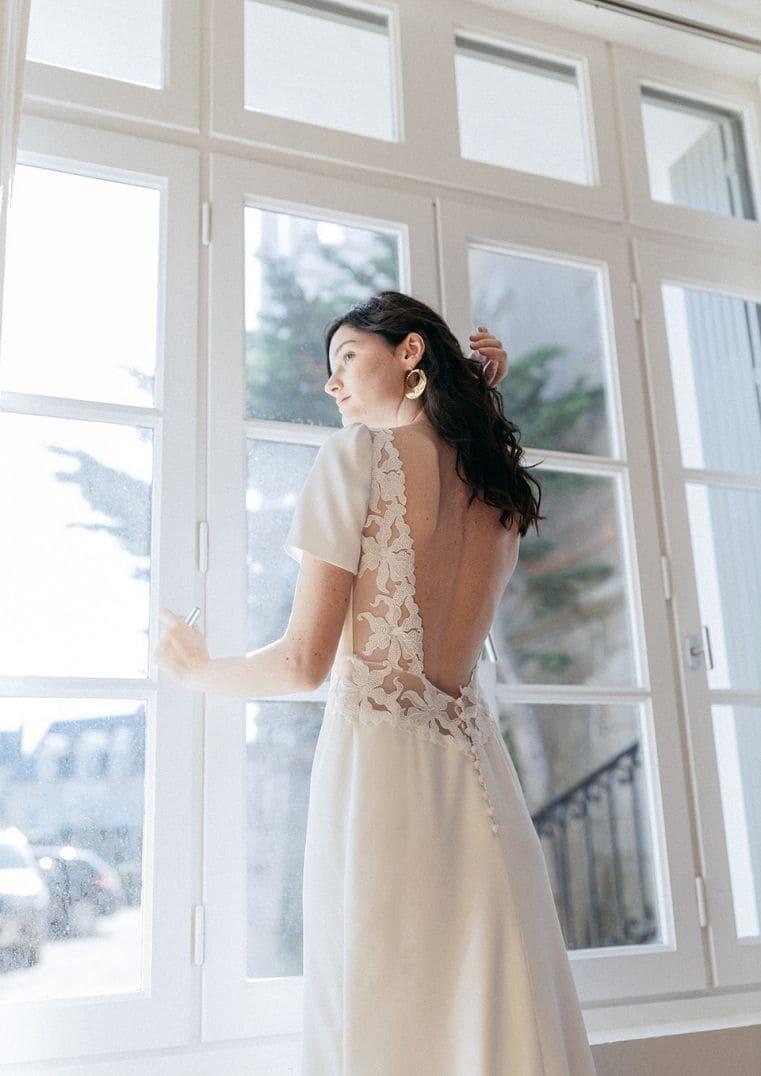 Robe de mariée Madura guipure - Lambert Créations