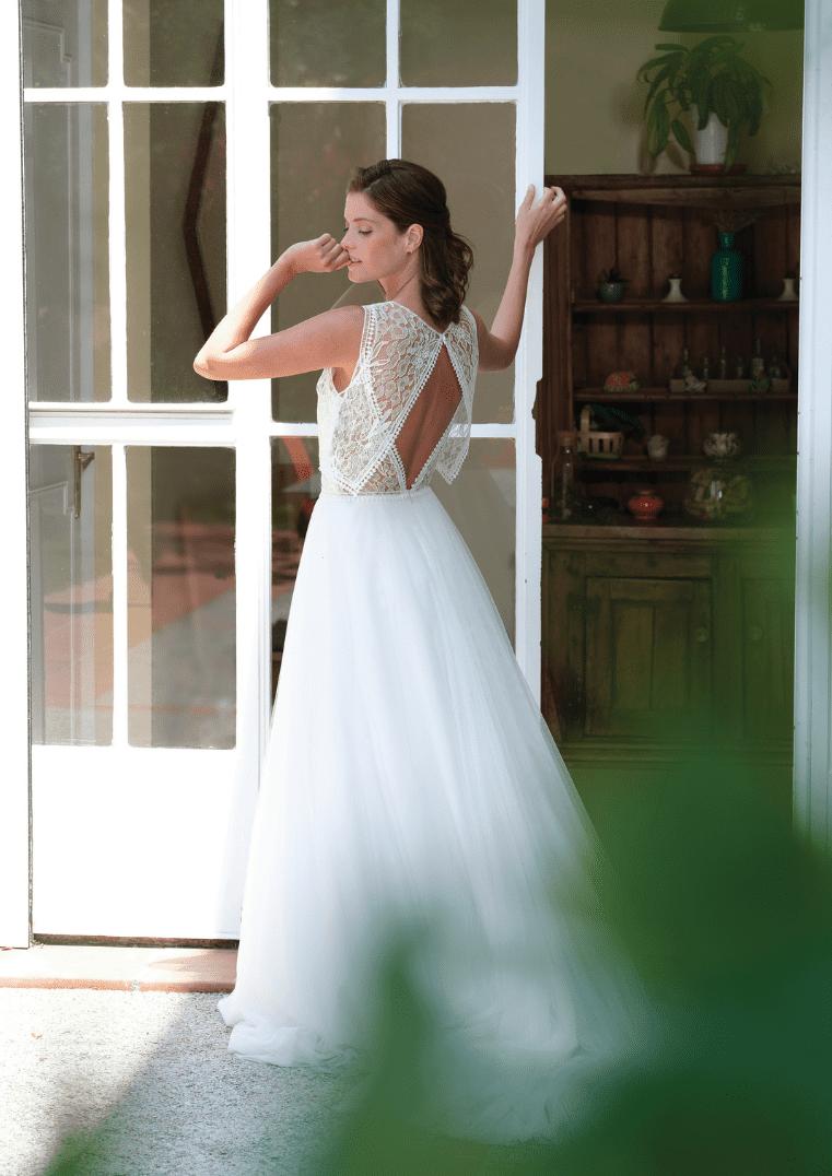 Robe de mariée Sunset dos - Bochet Créations
