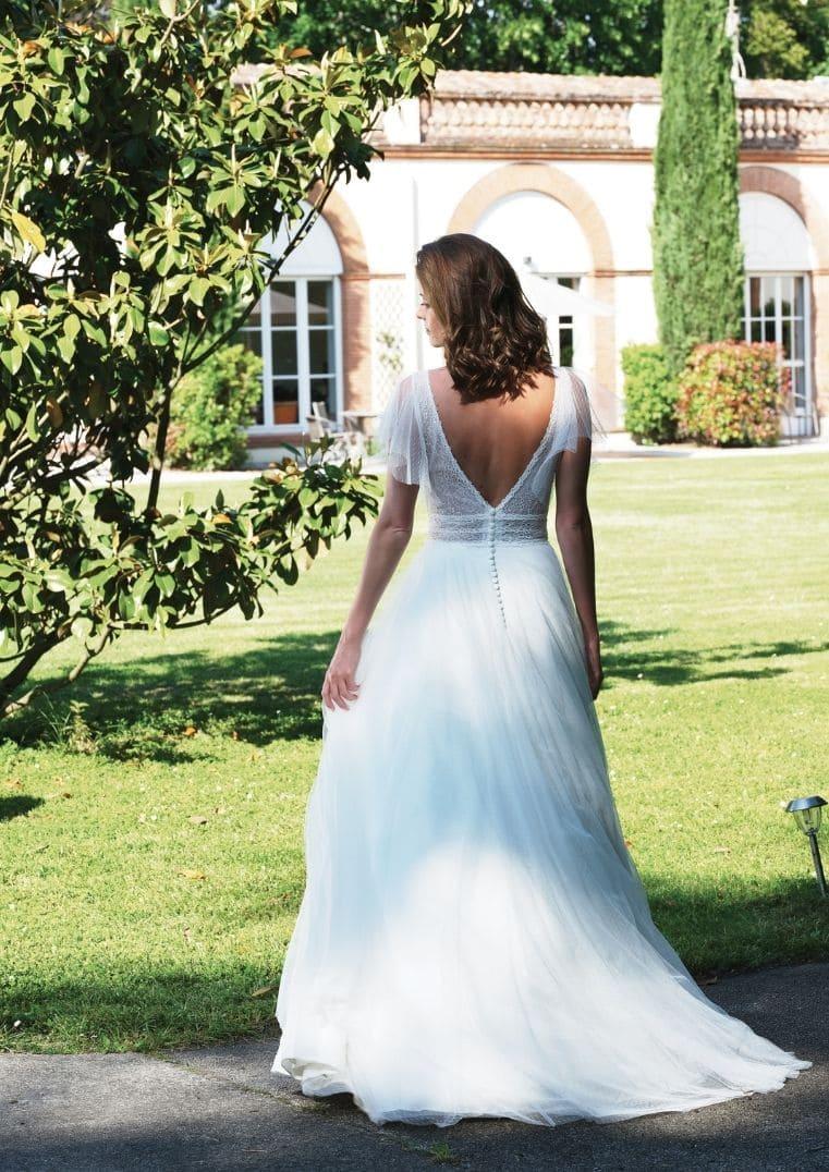 Robe de mariée Smile dos - Bochet Créations 2022