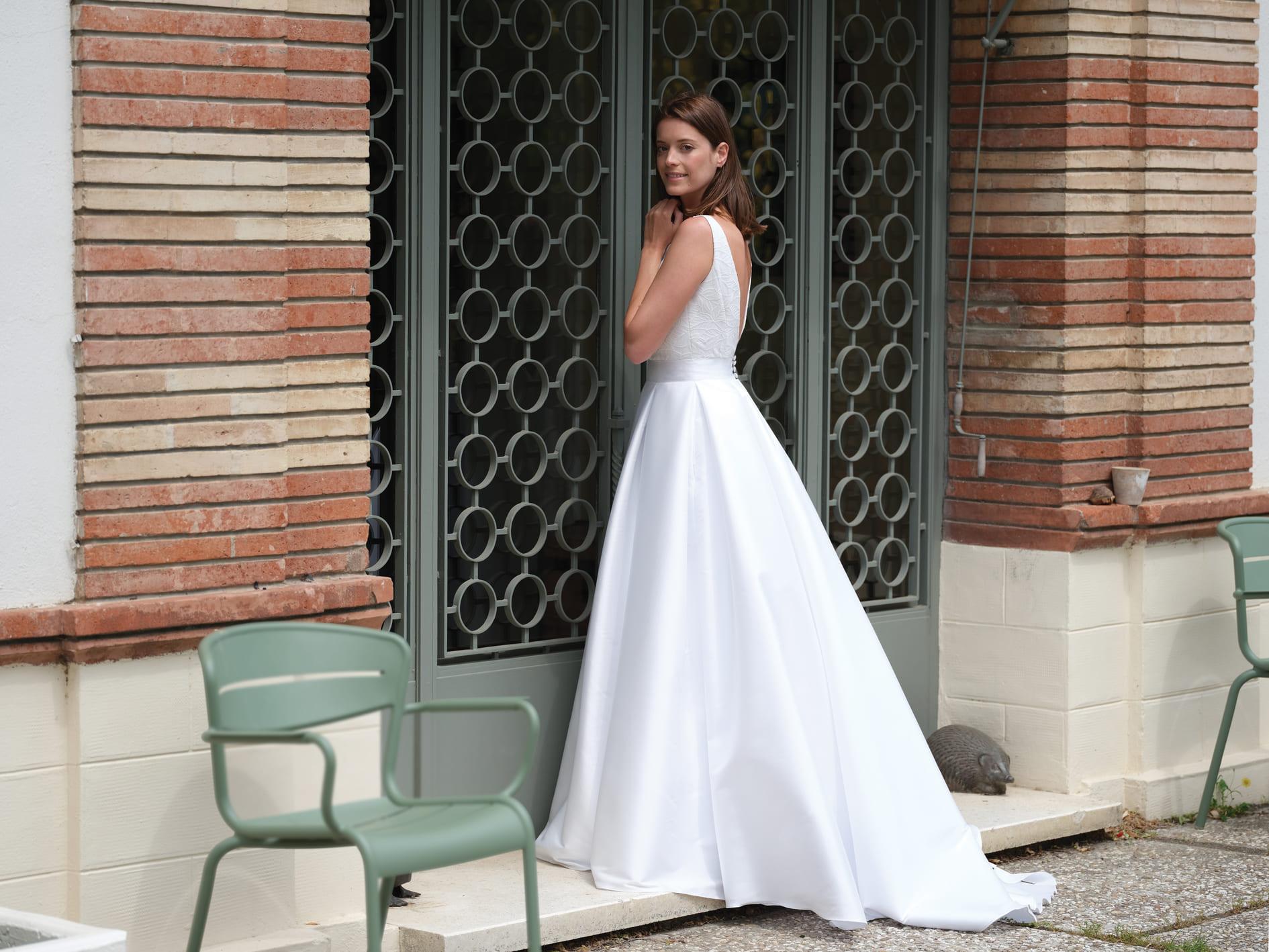 Robe de mariée Syllabe sans manches - Bochet Créations 2022